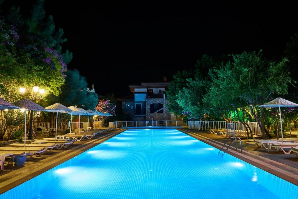 pool, swim, night